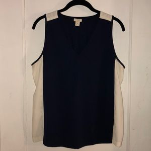 J Crew color block crepe tank 8